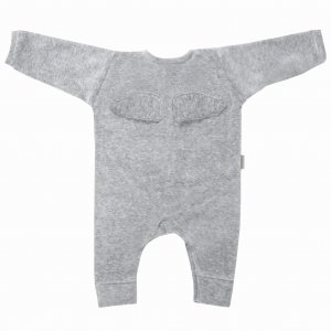 Welurowy Rampers Wings Grey