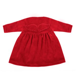 Welurowa Sukienka Wings Red