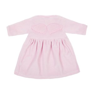 Welurowa Sukienka Wings Light Pink